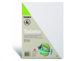 Primo 466CT18X24 Cartoncino telato per diverse tecniche di pittura, 100% cotone, 18x24cm
