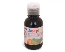 Primo 402TA125800 Colore acrilico nero fine in bottiglia 125ml - 1pz
