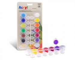 Primo 161TA14BL Colore acrilico fine in 14 vasetti da 4,5 ml richiudibili