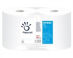 Papernet 401683 Bobina asciugatutto pura cellulosa a 2 veli, 137mt - confezione 2pz