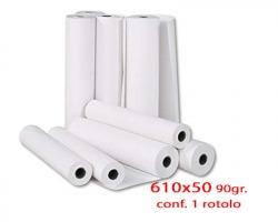 Roto D61P19 Rotolo in carta cellulosa per plotter opaca 61cm x 50m 90gr/m2- 1rot.