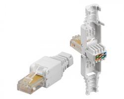 Connettore Plug RJ45 8 poli UTP Cat.5E non schermato tooless maschio