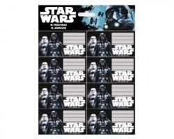 Star Wars Etichette segnanome per libri e quaderni buste da 2ff blister da 16 etichette