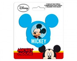 Disney Topolino set 1x2 gomme con forma Mickey mouse in blister
