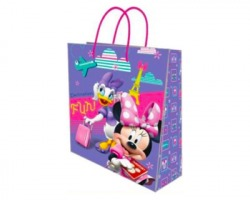 Disney Minnie Sacchetto regalo 32x26x10cm - 1pz