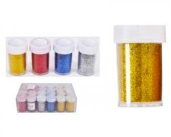 Polvere glitter in vasetto da 10gr - colori assortiti