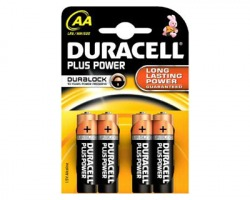 Duracell MN1500 batterie alcaline Plus Power AA stilo 1,5V blister da 4pz (81288304)