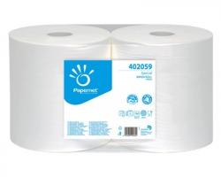 Papernet 402059 Bobina puliunto in pura cellulosa a 2 veli microgoffrata, 760 strappi - confezione 2pz