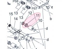 Konica Minolta A02E561100 Clutch originale