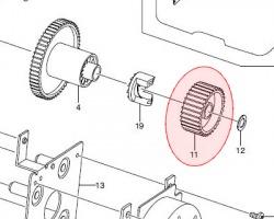 Samsung JC6601637A Gear fuser dr out originale