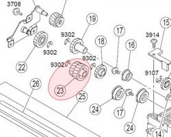 Konica Minolta 4021521401 Gear 18T originale