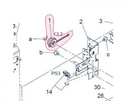 Konica Minolta A02E-M202-00 Clutch originale