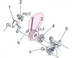 Konica Minolta A02E-M201-00 Manual feed clutch originale