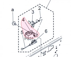 Konica Minolta A02E112111 Bracket for photo interrupter originale