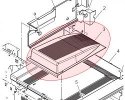Konica Minolta A0ED161001 Top Tray originale (A0ED161002)