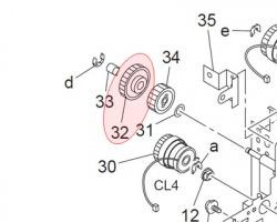 Konica Minolta 4030306401 Gear 33T originale