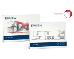 Favini A166504 FAVINI 4 Album da disegno cartangoli liscio neutro D4 (20fg)