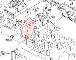 Konica Minolta 4030585401 Fuser tension roller originale