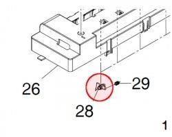 Kyocera 2BL20080 Claw heat roller originale