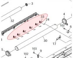Kyocera 2A820530 Upper picker finger compatibile (2A820360)