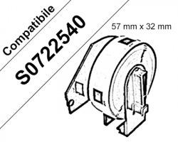 Dymo S0722540 - 1000 etichette adesive compatibili 57 x 32mm BK/WH 1pz