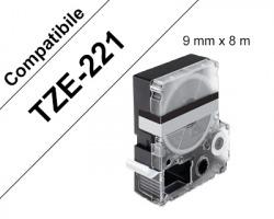 Brother TZE221 Nastro compatibile nero su bianco 9mm x 8m