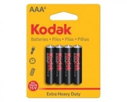 Kodak Batterie allo zinco AAA mini stilo 1.5V blister da 4pz