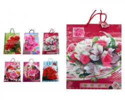 "Sacchetto Regalo big 45 x 32cm ""Rose"" assortiti in 6 varianti - 1pz"