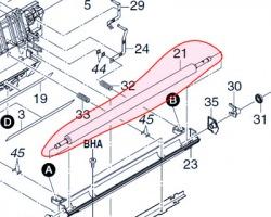 Kyocera 302FG93092 Transfer roller originale