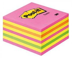 3M Post-It 2028NP Notes cubo rosa neon 76 x 76mm 450ff - 1pz