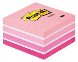 3M Post-It 2028-P Notes cubo rosa pastello 76 x 76mm 450ff - 1pz
