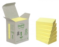 3M Post-It 653-1B Notes riciclati giallo 38 x 51mm 100ff - 6pz