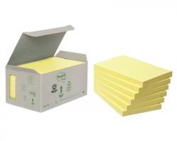 3M Post-It 655-1B Notes riciclati giallo 76 x 127mm 100ff - 6pz