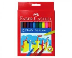Faber-Castell 554212 Astuccio con 12 pennarelli castello, punta fine
