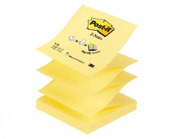 3M Post-It R-330 Z-Note giallo canary 76 x 76mm 100ff - conf. 12pz
