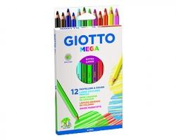 Fila-Giotto 225600 Astuccio Mega 12 pastelloni giganti, Ø 5.5mm