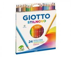 Fila-Giotto 256600 Astuccio Stilnovo 24 pastelli esagonali, Ø 3.3mm