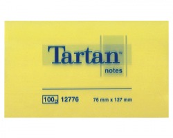 3M Tartan 12776 foglietti riposizionabili giallo light 76 x 127mm 100ff- conf. 12pz