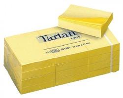 3M Tartan 5138 Foglietti riposizionabili giallo light 51 x 38mm 100ff - conf. 12pz