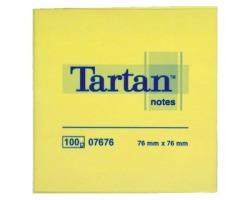 3M Tartan 7676 Foglietti riposizionabili giallo light 76 x 76mm 100ff - conf. 12pz