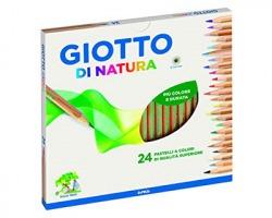 Fila-Giotto 240700 Astuccio Di Natura con 24 pastelli tondi, diametro 8mm, lunghezza 18cm, ø 3,8mm