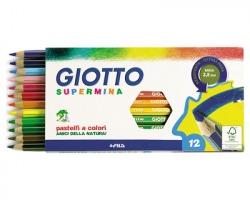 Fila-Giotto 235700 Astuccio Supermina 12 pastelli esagonali Ø 3.8mm