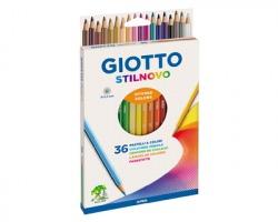 Fila-Giotto 256700 Astuccio Stilnovo 36 pastelli esagonali, Ø 3.3mm