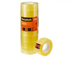 3M-Scotch 508-1533 Nastro adesivo trasparente in torre 15mm x 33m - conf. 10pz