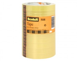 3M-Scotch 508-1566 Nastro adesivo trasparente in torre 15mm x 66m - conf. 10pz