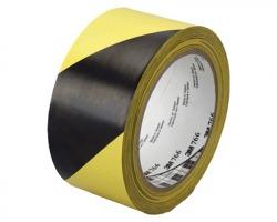3M-Scotch 766 Nastro adesivo di segnalazione colore giallo/nero, misure 50mm x 33m