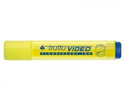 Fila-Tratto 830201 Tratto video - evidenziatore giallo punta a scalpello - confezione 12pz