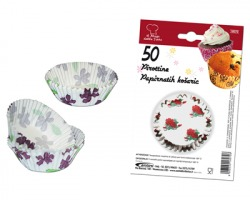 Pirottini in carta per muffin/cupcake misura medium, fantasie assortite - conf. 50pz