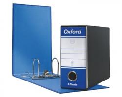 Esselte 390781050 Oxford G81 registratore memorandum blu, dorso 8cm formato utile 23 x 18cm