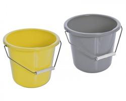 Secchio in plastica da 10 litri, colori assortiti